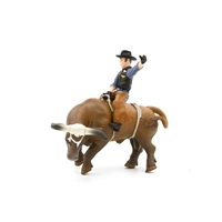Little Buster Toys Bucking Bull & Rider Brown