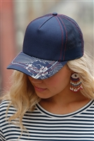 Cinch Women's Navy Trucker Cap