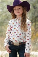 Cruel Girl Kids Armadillo Snap Western Shirt