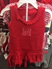 Husker Infant Red Ruffle Dress with Bloomer