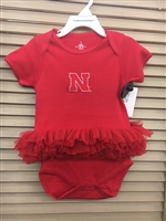 Husker Infant Red Tutu Bodysuit