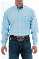 Cinch Men's Light Blue Micro Striped Shirt- Big & Tall