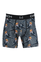 "Cinch Men's Woodpecker 6"" Boxer"