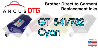 Arcus DTG Cyan Ink - Brother GT541/782 series compatible