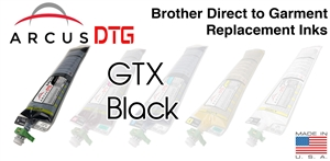 Arcus DTG Black Ink - Brother GTX series compatible