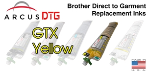 Arcus DTG Yellow Ink - Brother GTX series compatible