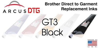 Arcus DTG Black Ink  *  Brother GT3 series compatible  *  Lower Price  *  Same Quality