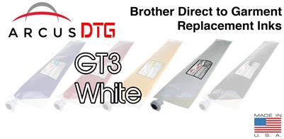 Arcus DTG White Ink  *  Brother GT3 series compatible  *  Lower Price  *  Same Quality