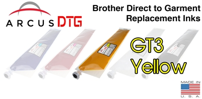 Arcus DTG Yellow Ink  *   Brother GT3 series compatible  *  Lower Price  *  Same Quality