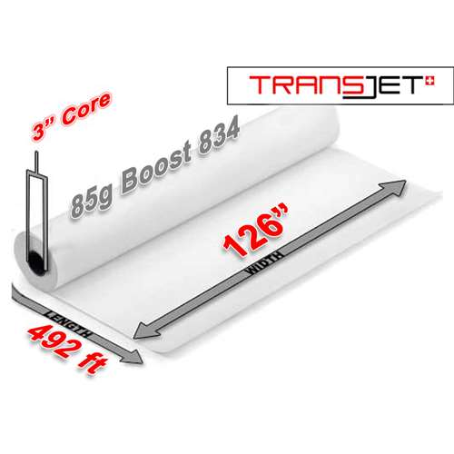 "Cham Transjet Boost 834 Sublimation Paper 85g (126"" x 492FT)"