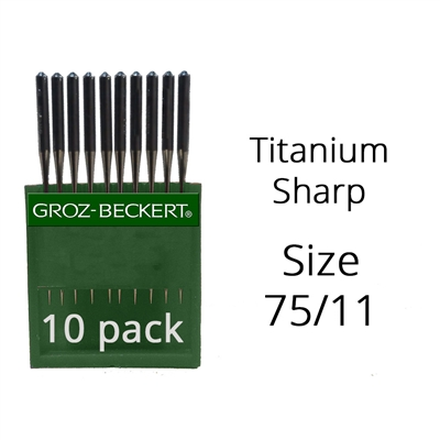 Groz Beckert Titanium Sharp Needles 75/11 (10 Pack)