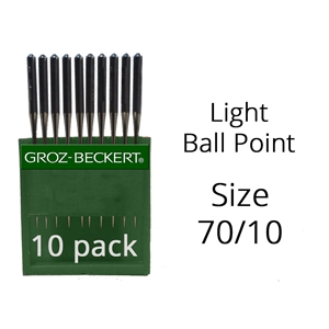 Groz Beckert Light Ball Point Needles 70/10 (10 Pack)