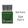 Groz Beckert Ball Point Needles 75/11 (10 Pack)