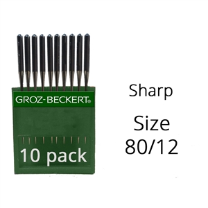 Groz Beckert Sharp Needles 80/12 (10 Pack)