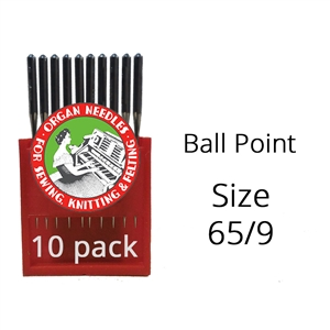 Organ Ball Point Needles 65/9 (10 pack)