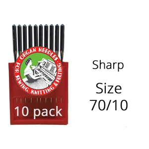 Organ Sharp Needles 70/10 (10 pack)
