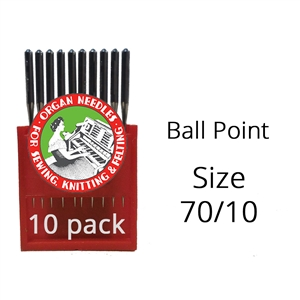Organ Ball Point Needles 70/10 (10 pack)