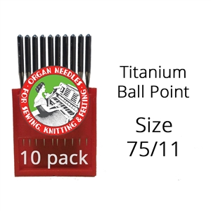 Organ Titanium Ball Point Needles 75/11 (10 pack)