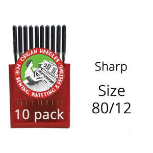 Organ Sharp Needles 80/12 (10 pack)