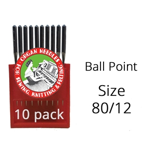 Organ Ball Point Needles 80/12 (10 pack)