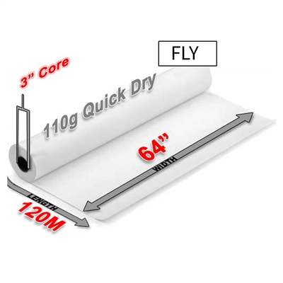 "FLY Quick Dry Sublimation Transfer Paper 110g (64"" x 120M)"