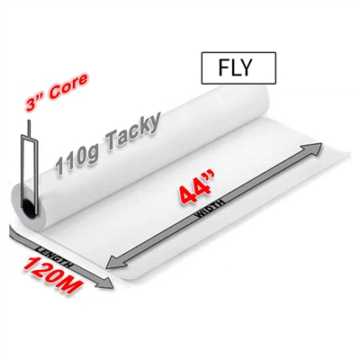 "FLY Tacky Sublimation Transfer Paper 110g (44"" x 120M)"