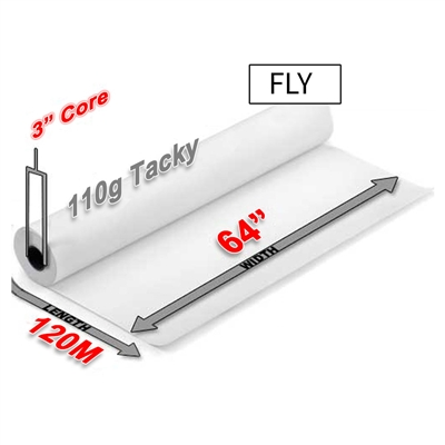 "FLY Tacky Sublimation Transfer Paper 110g (64"" x 120M)"