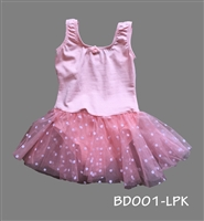 POLKA DOT LEOTARD SKIRT SWEET PINK