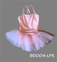 DAISY SKIRTED LEOTARD SWEET PINK