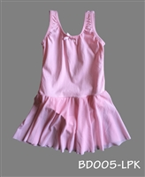PLAIN SWEET PINK SKIRTED LEOTARD