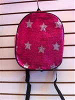 Fuchsia Sequins Star Backpack