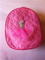 Sweet Pink Backpack With Sequins Pink Dress