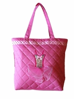 Sweet Pink Tote Bag With Sequins Dress