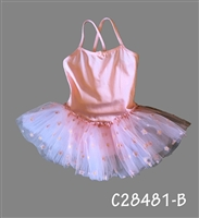 Pink Daisy skirted leotard