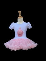 """SWEET CUP CAKE"" PINK SEQUIN BOUTIQUE DRESS 1"