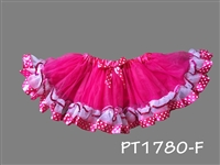 DARK PINK SKIRT WITH DOUBLE TRIM