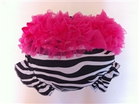 Fuchsia Ruffled Zebra bloomer
