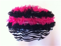 Fuchsia and Black Ruffled zebra bloomer