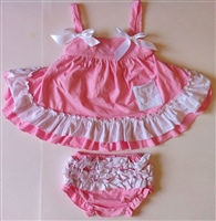 Sweet Pink and White Swing Top Set