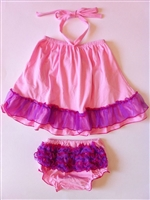 Sweet Pink and Purple Trim Swing Top Set