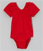 Red Short Sleeve Leotard