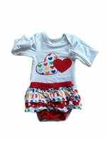 Heart Long Sleeve Onesies with Matching Bloomer