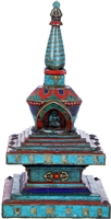 11 Inch Gem Inlayed Stupa