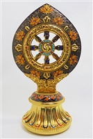Gold Plated Wheel of Dharma 7.5 Inches