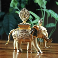 Gold Plated Copper Precious Elephant