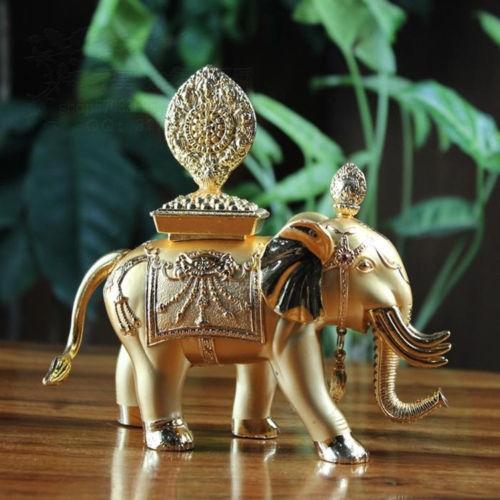 Gold Plated Copper Precious Elephant