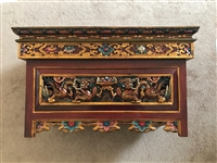 Hand Carved & Painted Extra Large Puja Table