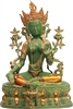 34 Inch Green Tara Statue Available in Six Different Finishes