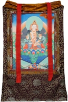 "Vajrasattva 36 "" Hand Painted Thangka SHIPS FREE WORLD WIDE"