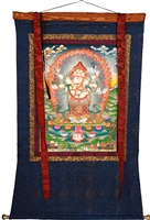 White Mahakala 53.5 Inches SHIPS FREE WORLD WIDE